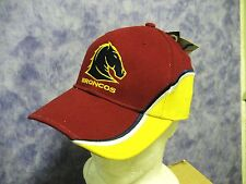 NRL BRISBANE BRONCOS CAP Mex wave Official with original tags -NEW!
