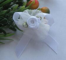 24/100pcs Upick Ribbon Bows Flowers Rose Appliques wedding Sewing Craft E62