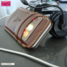 genuine real natural leather handmade case fit iphone 4s cover purse pouch s 4 3