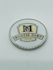Martis Camp Golf Club Truckee CA Members White Ball Marker Coin Metal Mint Rare