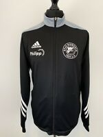 Adidas Black Tracksuit Jacket Top ETuS Bismarck 1931 e.V. German Football L VGC
