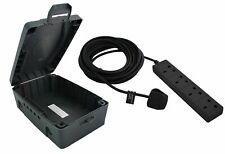 Masterplug 4 Sockets Extension Lead with Weatherproof Box - 10m