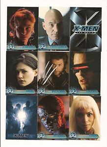 SET OF X-MEN THE  MOVIE TRADING CARDS