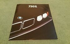 BMW 750iL 1987 1988 USA 2/87 LARGE BROCHURE 750i V12 7 Series E32