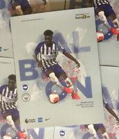 Brighton v Manchester City Match Programme July  2020 Free  Immediate UK Post