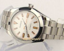40mm Parnis SapphireGlass White Dial Stainless Steel Automatic Men's Watch 975