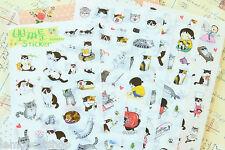 Love Gatto Adesivi Carino Cartone Animato Kitty kawaii Scrapbooking Planner Craft Adesivo