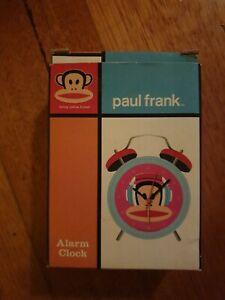 Paul Frank Alarm Clock monkey blue red funky cute -Free postage!!!