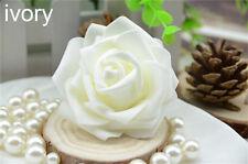 100 Foam Rose Heads Artificial Flowers Wedding Bride Bouquet Party Decor DIY