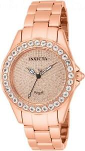 Invicta 14527 Rose Angel Blush 338 Diamond Pave Morganite Accented Womens Watch