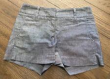 Daisy Fuentes Women's Denim Look Flat Front Shorts Size 4 (B1)