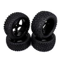 4pc 12mm Front Rear Hub Wheel Rim Tire RC 1/10 Off-Road Car Buggy 5 Spoke