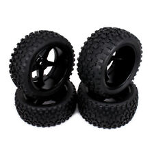 4pc Front Rear Wheel Rim Tire RC 1/10 Off-Road Car Buggy 5 Spoke For HSP Traxxas