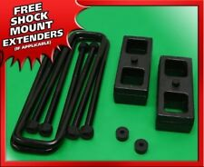 "1994-2002 Dodge Ram 2500 3500 Rear 2"" Steel Blocks + U-bolts Leveling Lift Kit"