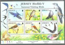 Jersey-Summer Visiting Birds min sheet mnh-2011