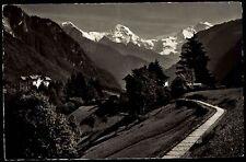 Wilderswil Schweiz AK mit Stempel 1955 Berghotels Schönbühl und Belmont Panorama