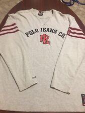 VTG Ralph Lauren Polo Jeans Company Giant Spell Out Heavy L/S Mens Shirt Medium