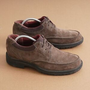 Clarks Mens Oxford Shoes Casual Walking Brown Tan Suede Lace Up Size 9.5M