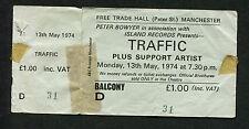 Original 1974 Traffic Steve Winwood unused full concert ticket Manchester Uk