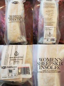 Genuine Women's UGG Boots Australia Sheepskin Insoles Natural Size 10 NEW