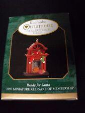 NEW 1997 Hallmark Keepsake Ornament Club READY FOR SANTA Minature