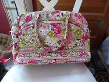 Vera Bradley metropolitan / laptop tote in retired Make Me Blush pattern