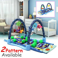 3 in 1 Newborn Baby Kids Ocean Playmat Crawling Gym Activity Soft Toy Play