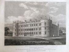 1808 antico stampa; Longford Castle, vicino Salisbury, Wiltshire