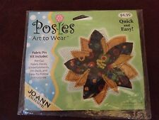 """Posies Art to Wear Fabric Pin Kit """"Calico Flower Black"""" a Jo-Ann Exclusive"""