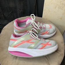 Mbt Toning Sz 7.5 Exercise Shoes 400108-44 Walking White Pink Purple