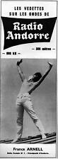 ▬► PUBLICITE ADVERTISING AD RADIO ANDORRE France Arnell 27 Mars 1966