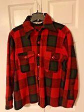Vintage Woolrich Rugged Outdoor Wear Men M RED PLAID Wool Hunting Jacket Coat