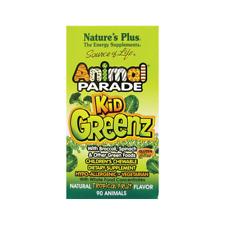 Natures Plus Animal Parade Kidgreenz - Tropical Fruit 90 Chwbls