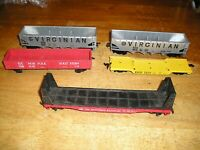 HO TRAIN LOT 14VGN5. 5 TYCO MARX FREIGHT CARS