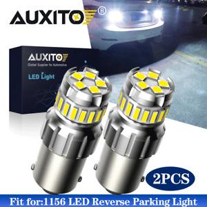 CANBUS 1156 7506 LED Reverse Back Up Tail Brake Light Bulbs 6500K White 2400LM