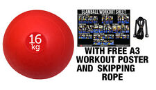 FXR SPORTS RED 16KG NO BOUNCE SLAM BALL CROSSFIT MMA FITNESS STRENGTH TRAINING