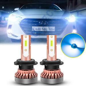 8000K Ice Blue Headlight High Beam LED Light Bulbs For Hyundai Elantra 14-18