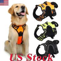 Large Pet Dog Harness Vest Collar Adjustable Soft Collar Walk Hand Strap Leash