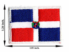 Dominican Republic Flag Nation Sport Size M  Logo Applique Iron on Patch Sew
