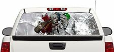 Harley Quinn Joker rear window graphics Decal 50/50 view 66''x22'' Truck SUV