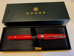 Cross Bailey Light Rollerball Pen in Polished RED Resin w/Red gel ink ***