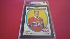 1971 Topps hockey card of Henri Richard #120 graded a perfect 10 GM