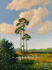 Florida Knife Oil Painting - Pines Paradise - Highwaymen Like - Lost Year Art