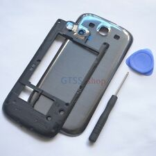 Middle + Back Battery Housing Cover Case for Samsung Galaxy S3 i9305 LTE Grey