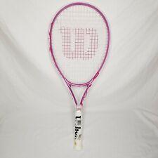 "New listing Wilson ""Hope"" Pink Breast Cancer Awareness Tennis Racket 4 1/8"
