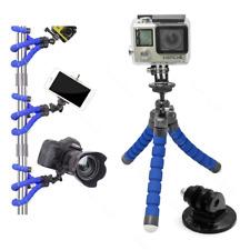 For GoPro HERO4 Black Action Cam Camera Flex Tripod Gorilla Mount Stand in BLU