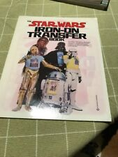 RARE ICONIC 1977 STAR WARS Iron-On Transfer Book.. COMPLETE!