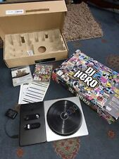 DJ Hero - PlayStation 3 - PS3 Complete Turntable Box & Instructions + 2 Games