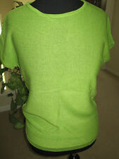 ELLEN TRACY LIME GREEN TOP, SIZE PETITE