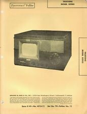 Sams Photofact Folder Truetone Model D2985 Set # 70 Folder 11 Date 10/49